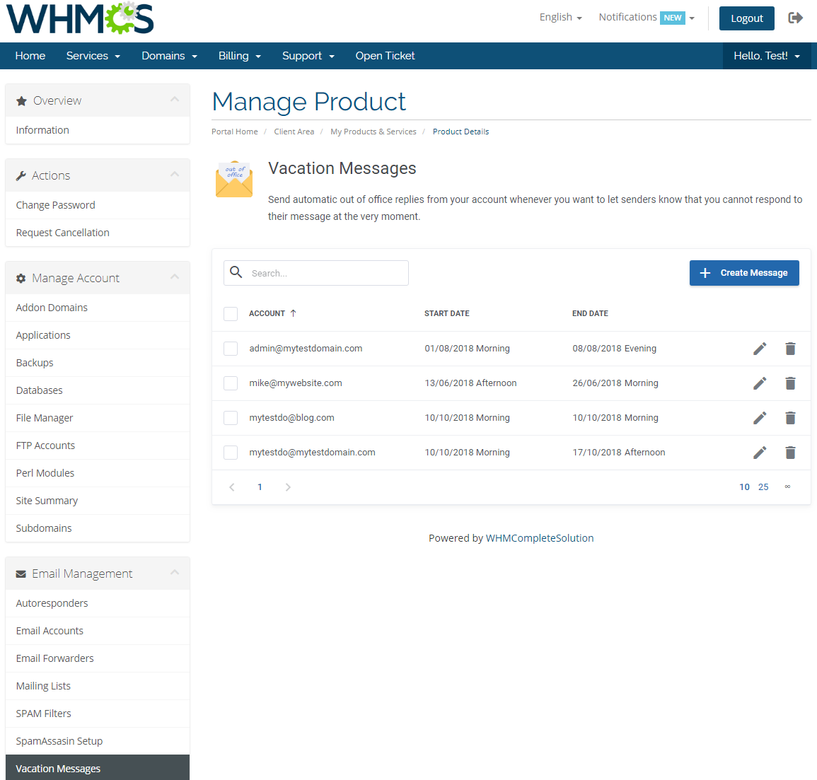 DirectAdmin Extended For WHMCS: Module Screenshot 22