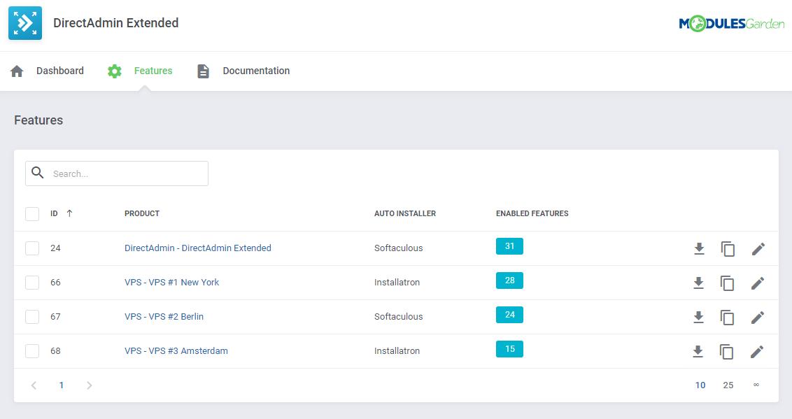 DirectAdmin Extended For WHMCS: Module Screenshot 35