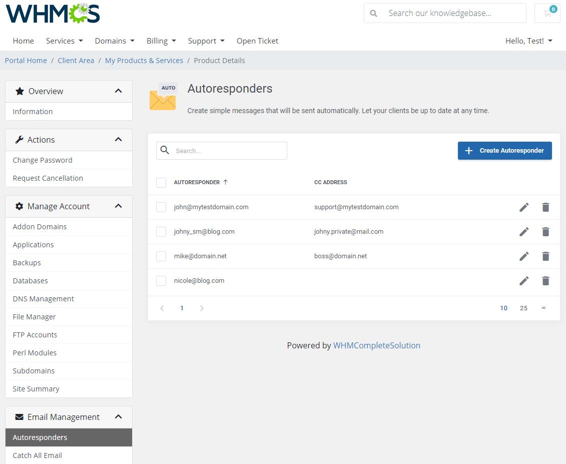 DirectAdmin Extended For WHMCS: Module Screenshot 17