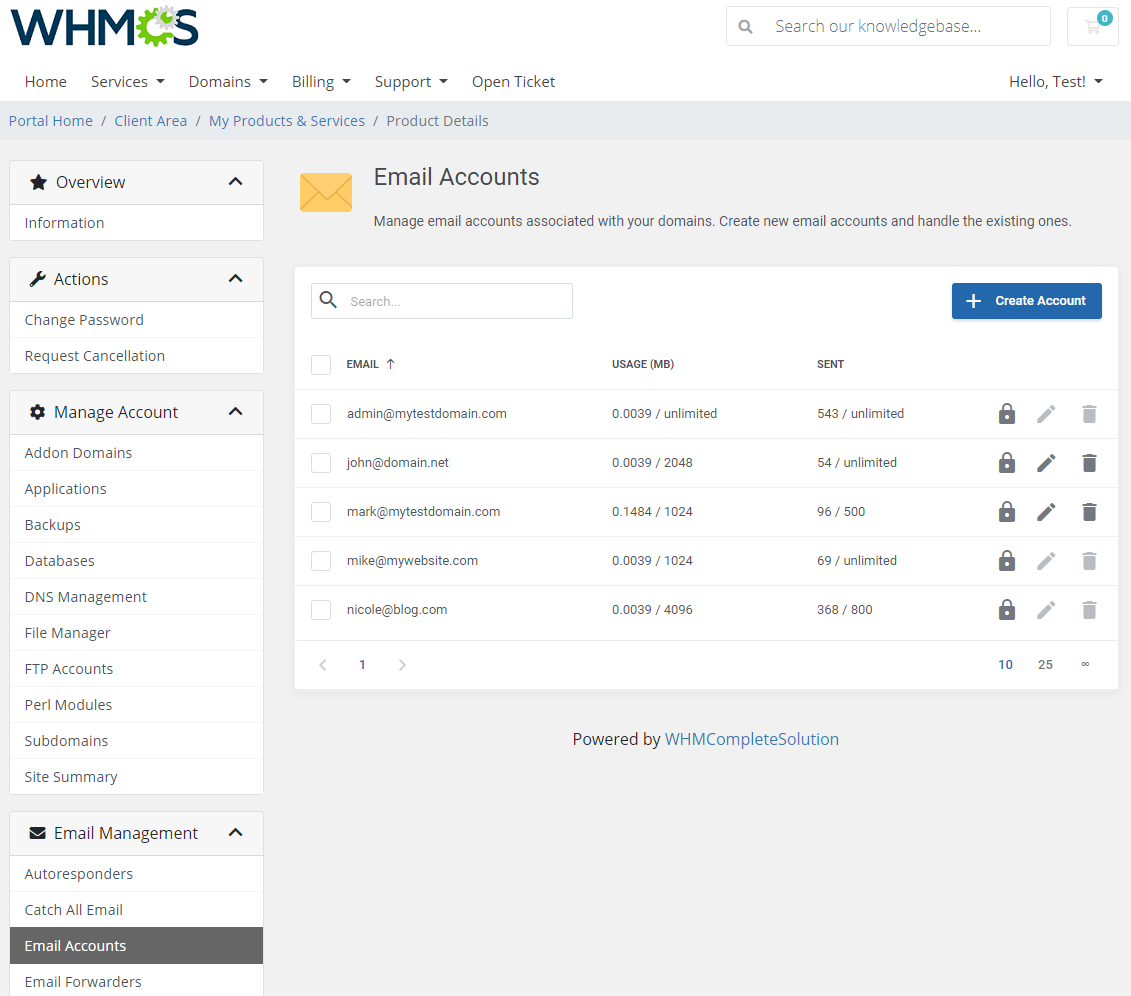 DirectAdmin Extended For WHMCS: Module Screenshot 20