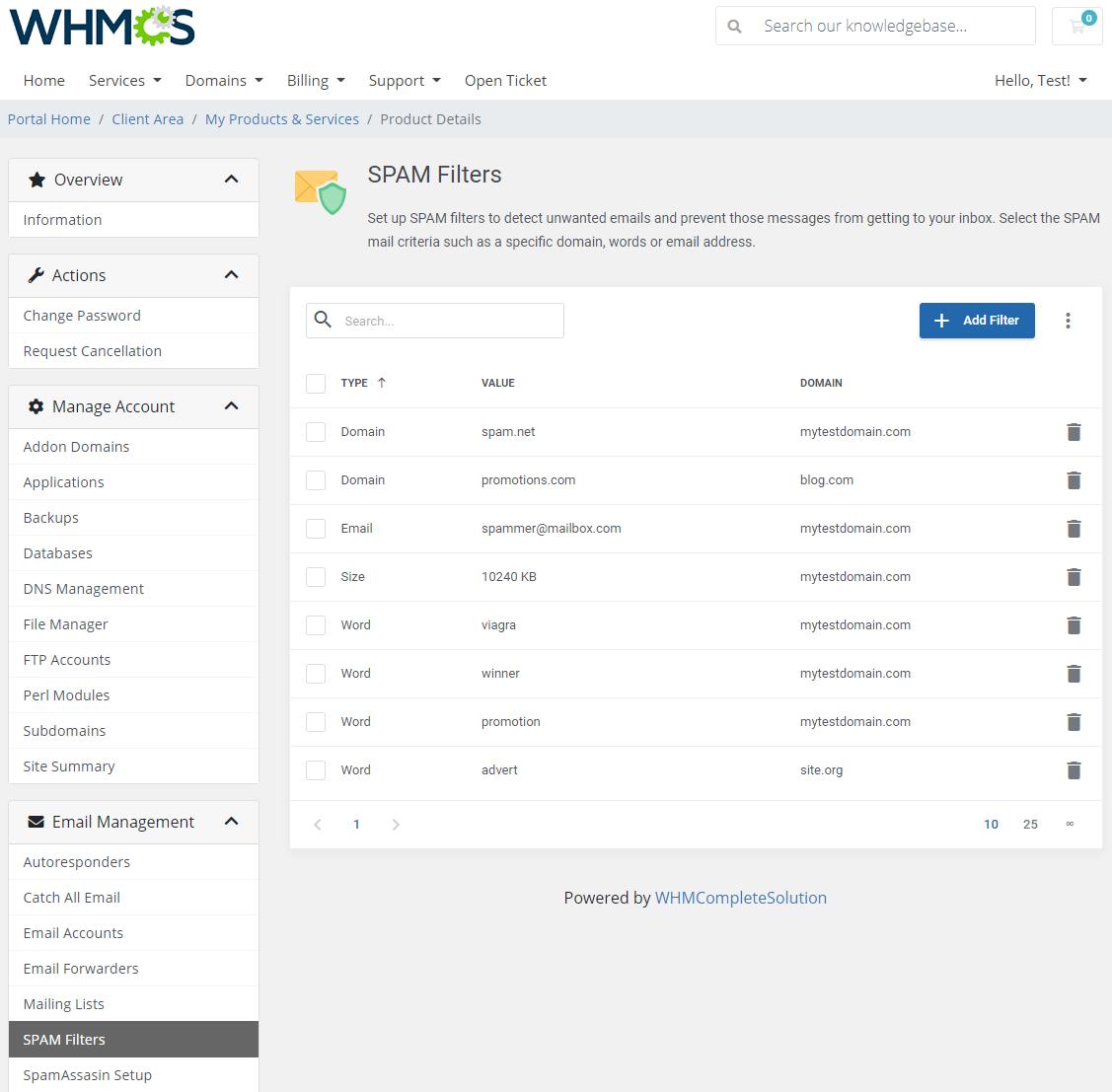 DirectAdmin Extended For WHMCS: Module Screenshot 23