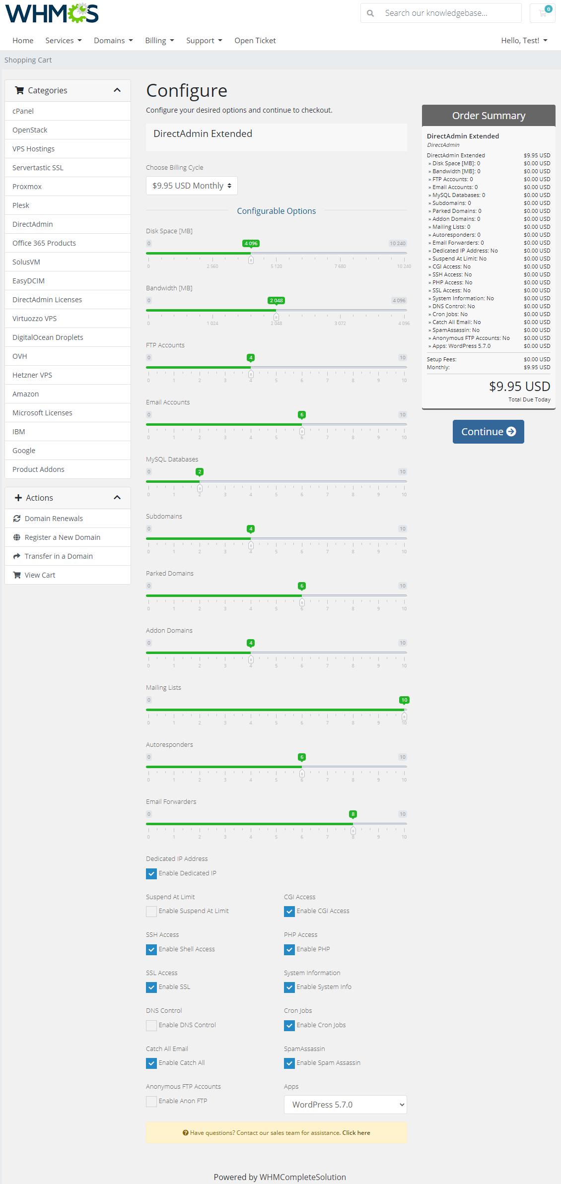 DirectAdmin Extended For WHMCS: Module Screenshot 34