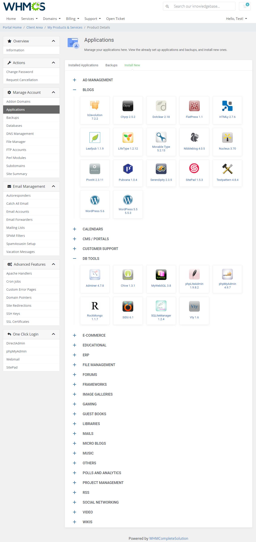 DirectAdmin Extended For WHMCS: Module Screenshot 6