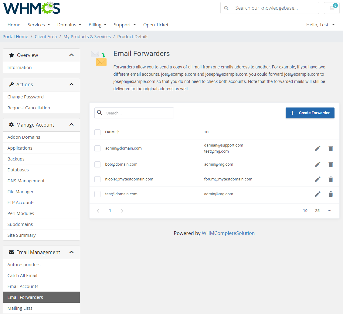 DirectAdmin Extended For WHMCS: Module Screenshot 21