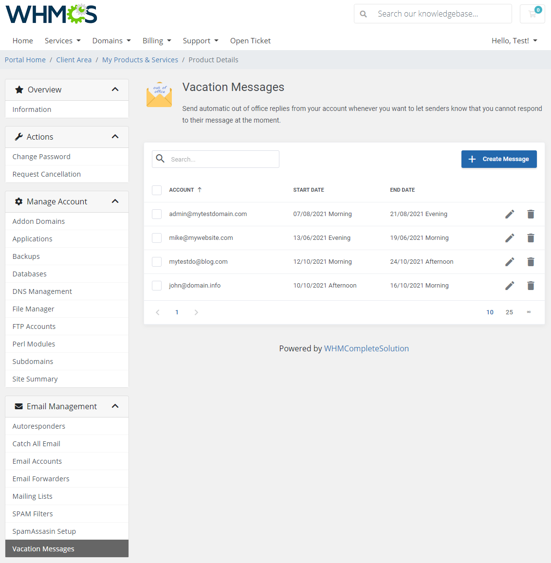 DirectAdmin Extended For WHMCS: Module Screenshot 25