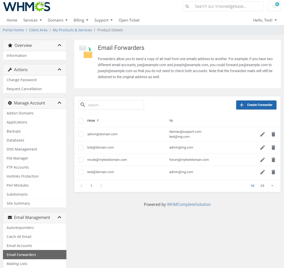 DirectAdmin Extended For WHMCS: Module Screenshot 22