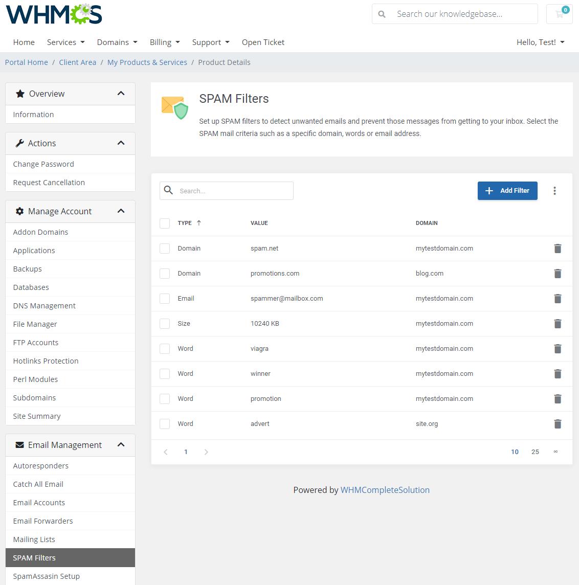DirectAdmin Extended For WHMCS: Module Screenshot 24