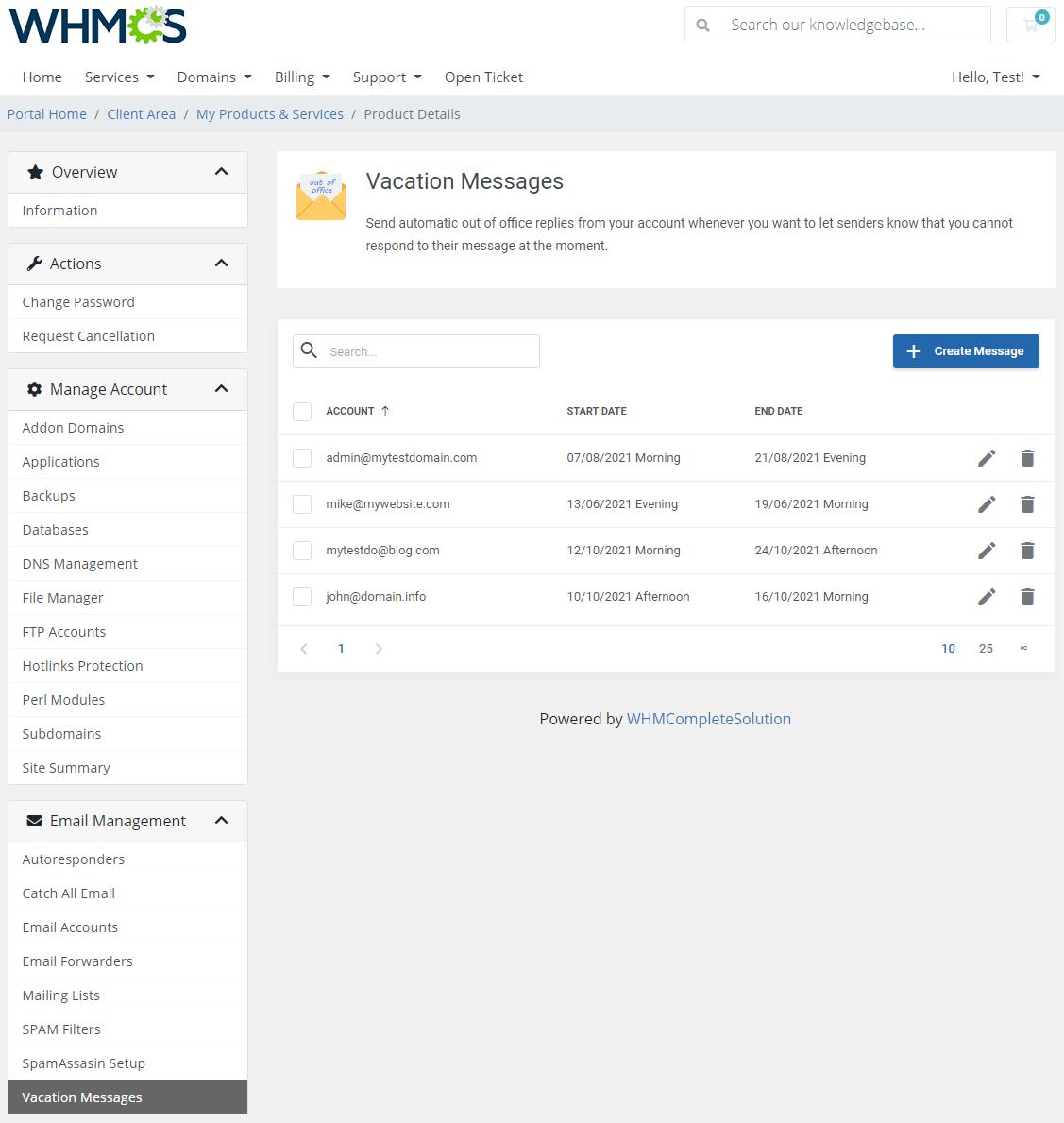 DirectAdmin Extended For WHMCS: Module Screenshot 26
