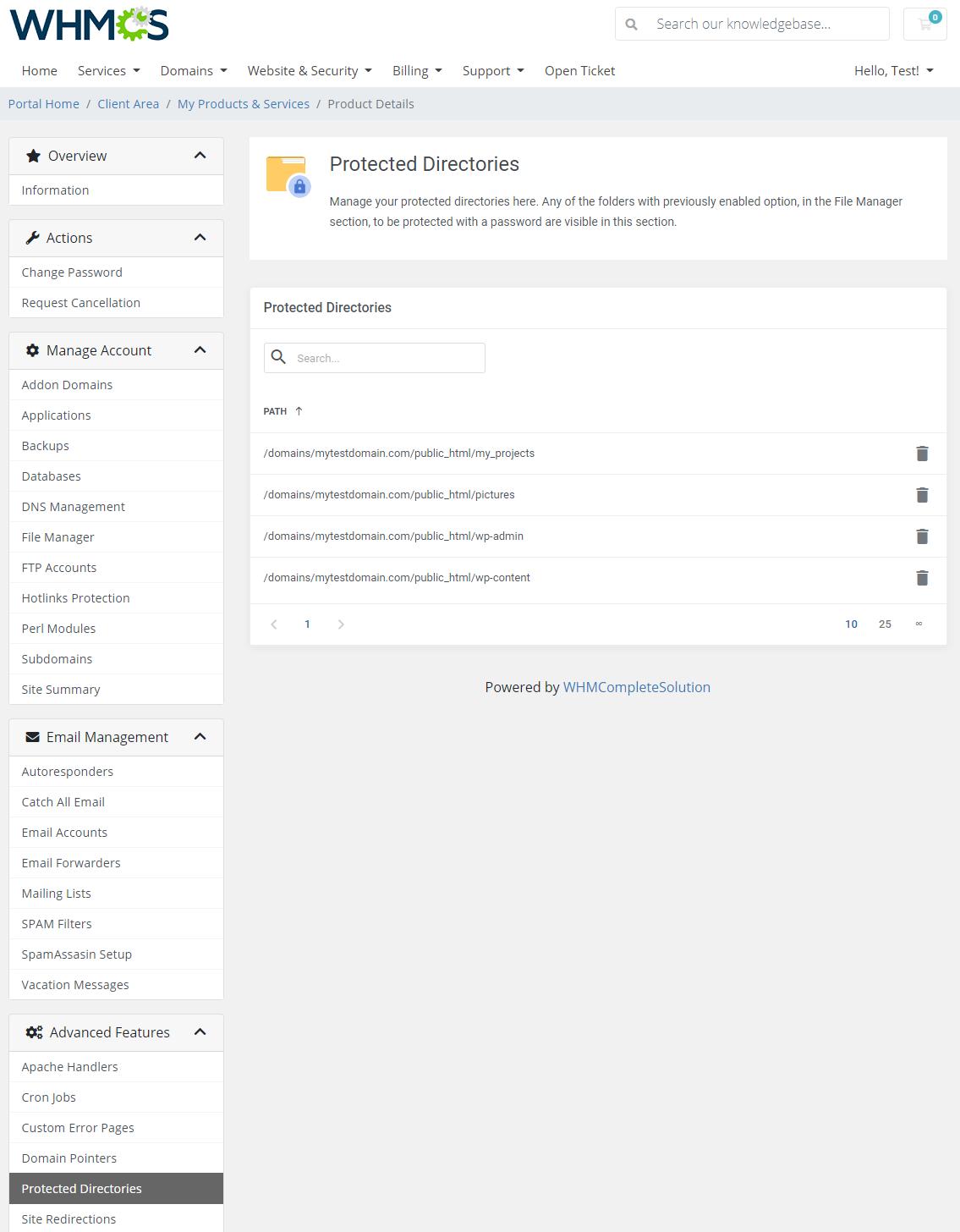 DirectAdmin Extended For WHMCS: Module Screenshot 31