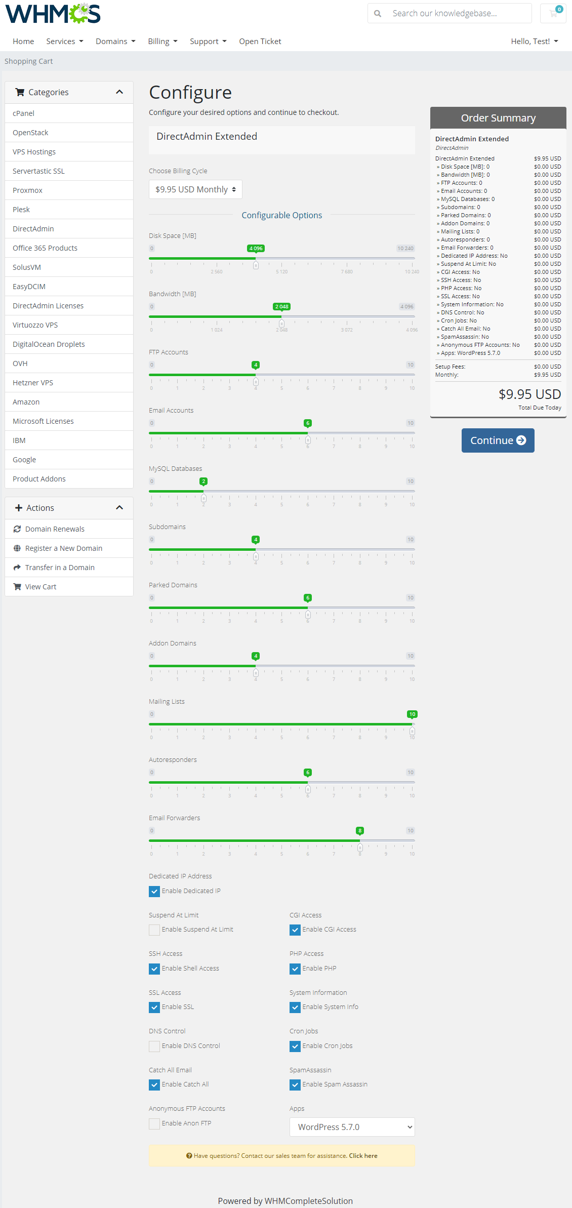 DirectAdmin Extended For WHMCS: Module Screenshot 40