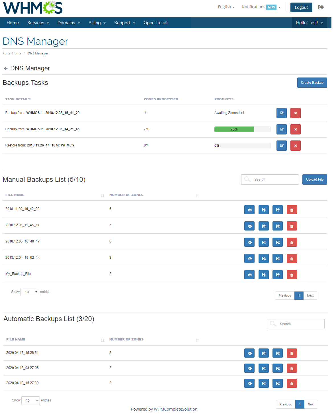 DNS Manager For WHMCS: Module Screenshot 8