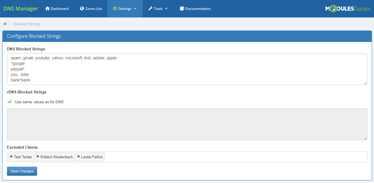 DNS Manager For WHMCS: Module Screenshot 27