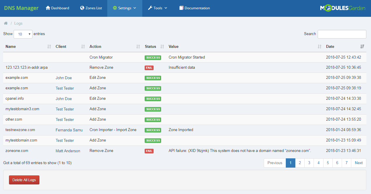 DNS Manager For WHMCS: Module Screenshot 34