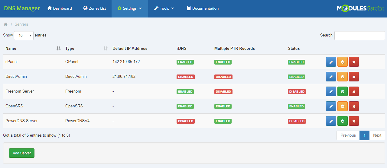 DNS Manager For WHMCS: Module Screenshot 16