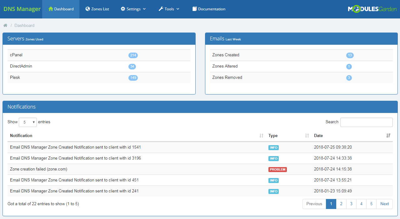 DNS Manager For WHMCS: Module Screenshot 10