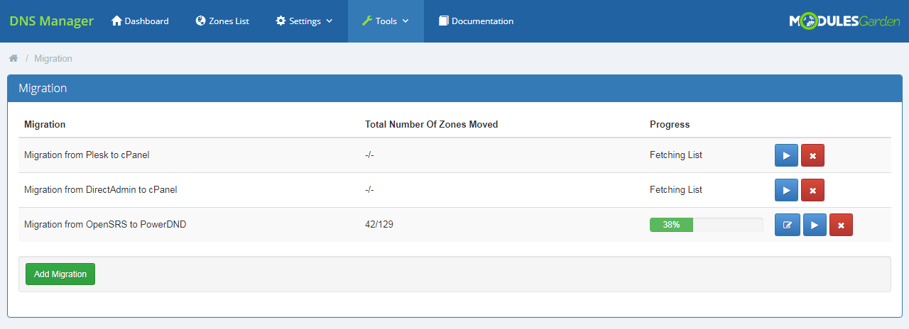 DNS Manager For WHMCS: Module Screenshot 30