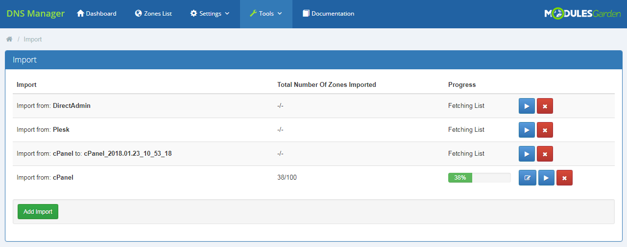 DNS Manager For WHMCS: Module Screenshot 31