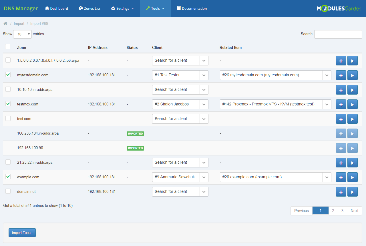 DNS Manager For WHMCS: Module Screenshot 32