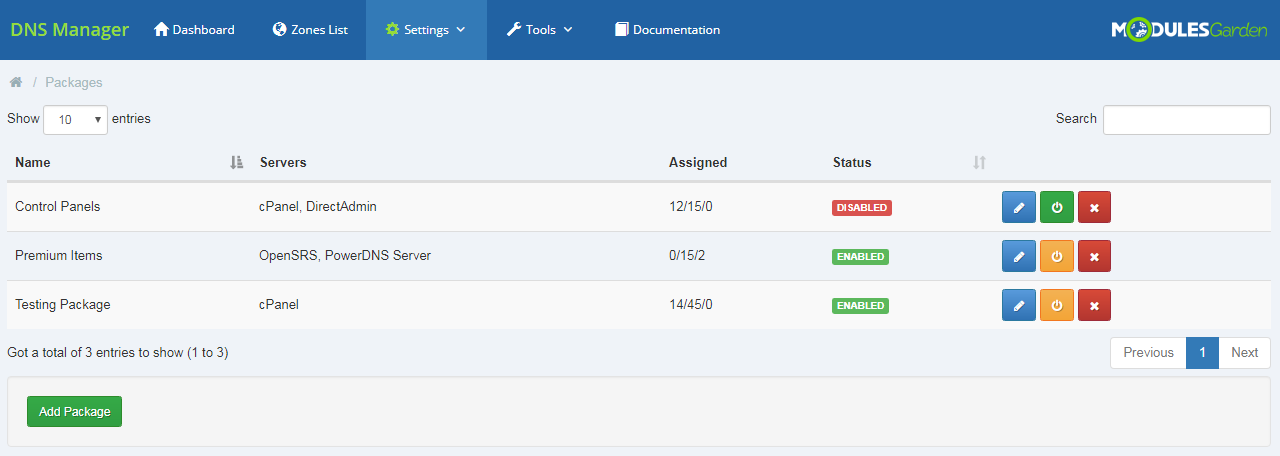DNS Manager For WHMCS: Module Screenshot 18