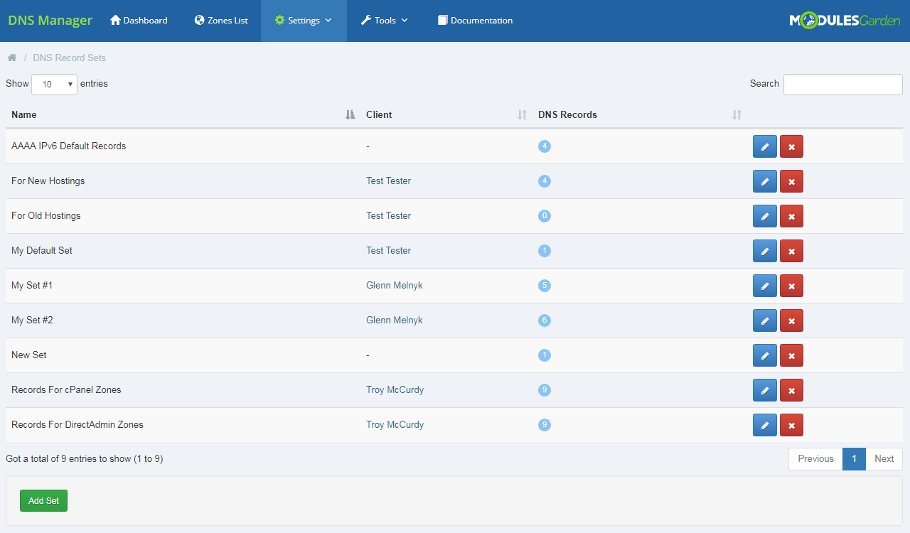 DNS Manager For WHMCS: Module Screenshot 26