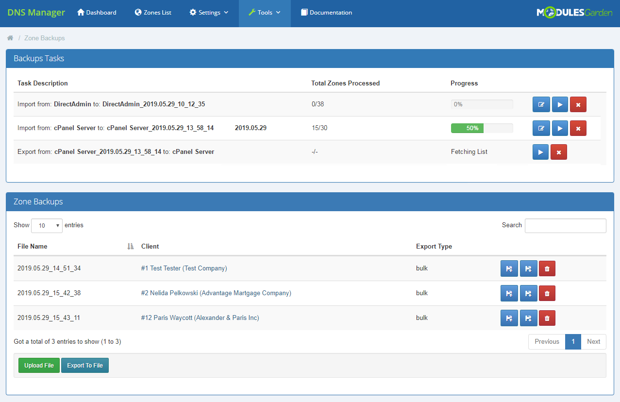 DNS Manager For WHMCS: Module Screenshot 33