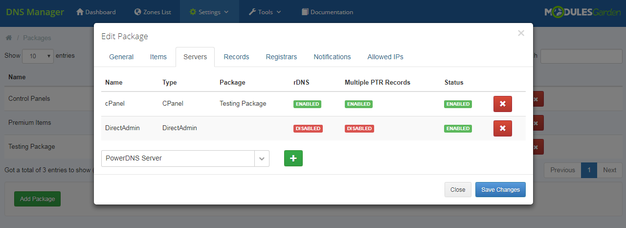 DNS Manager For WHMCS: Module Screenshot 21