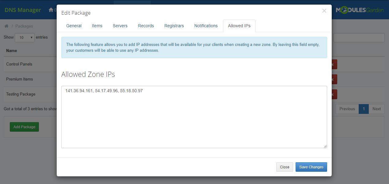 DNS Manager For WHMCS: Module Screenshot 25