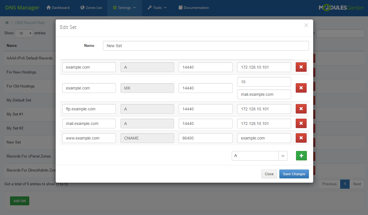 DNS Manager For WHMCS: Module Screenshot 29