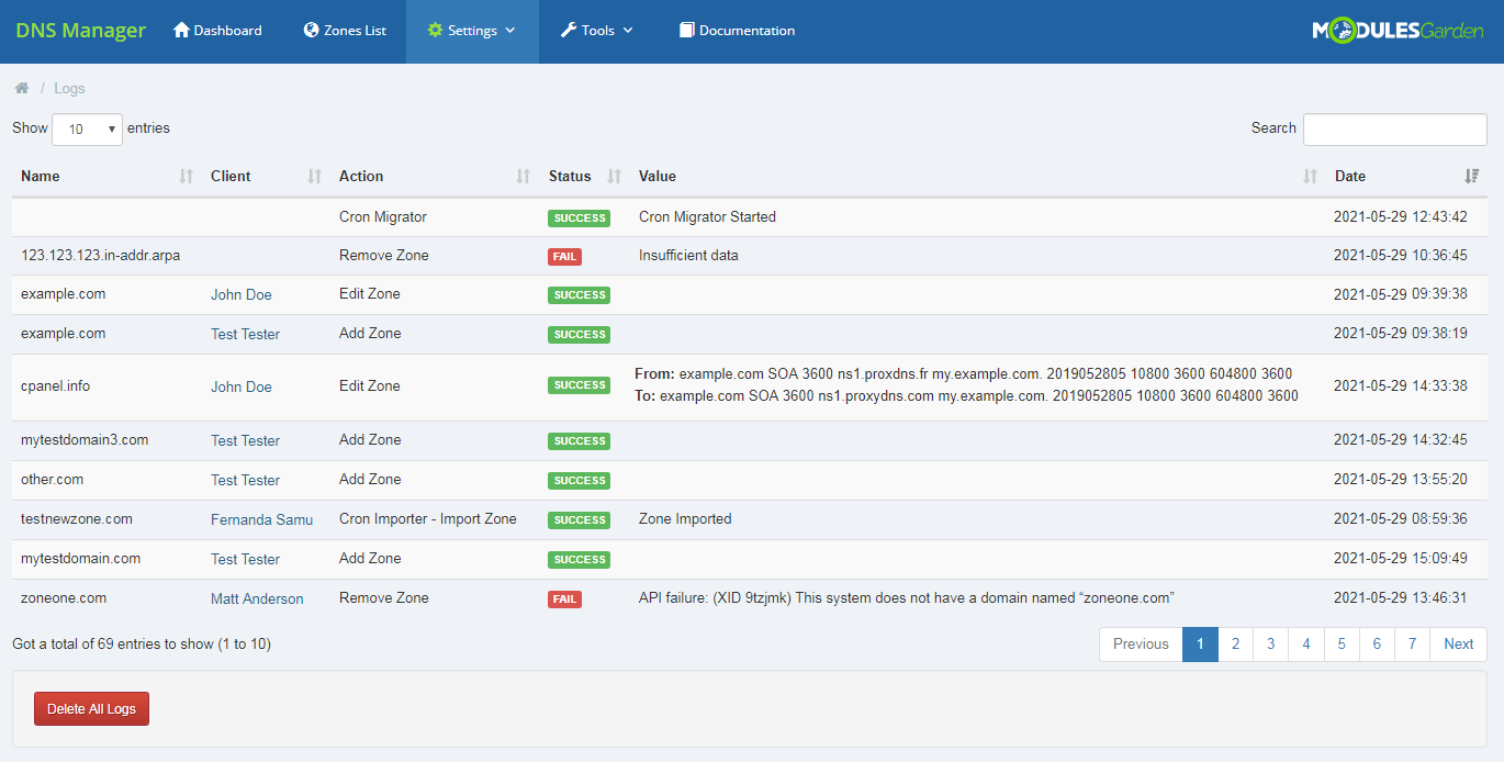DNS Manager For WHMCS: Module Screenshot 37