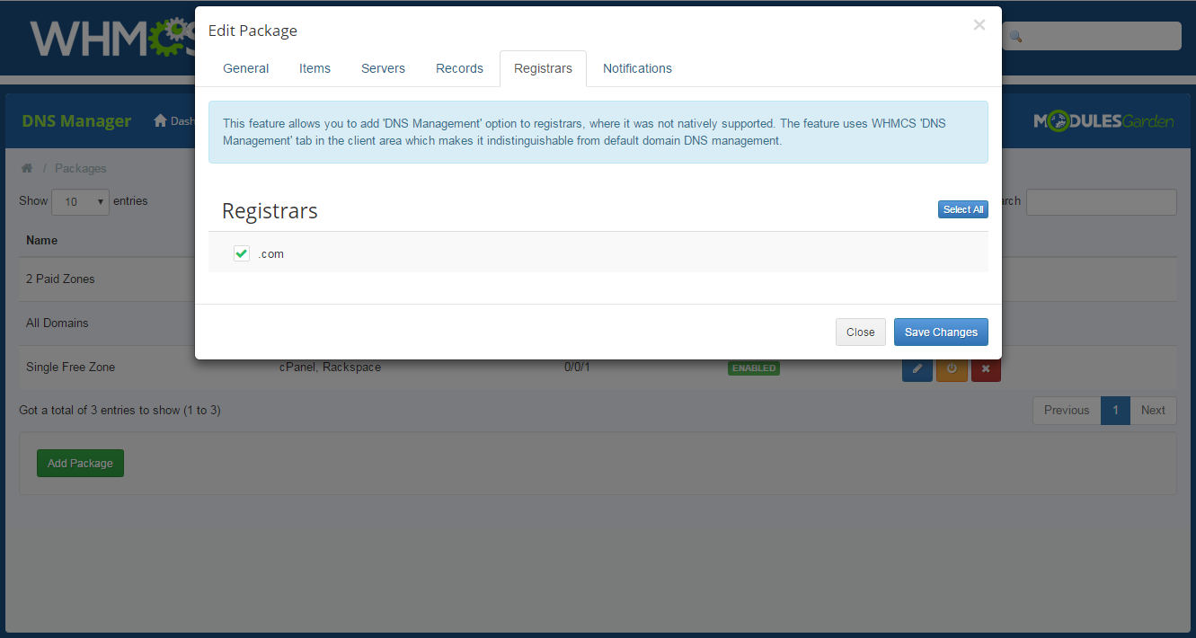 DNS Manager For WHMCS: Screen 20