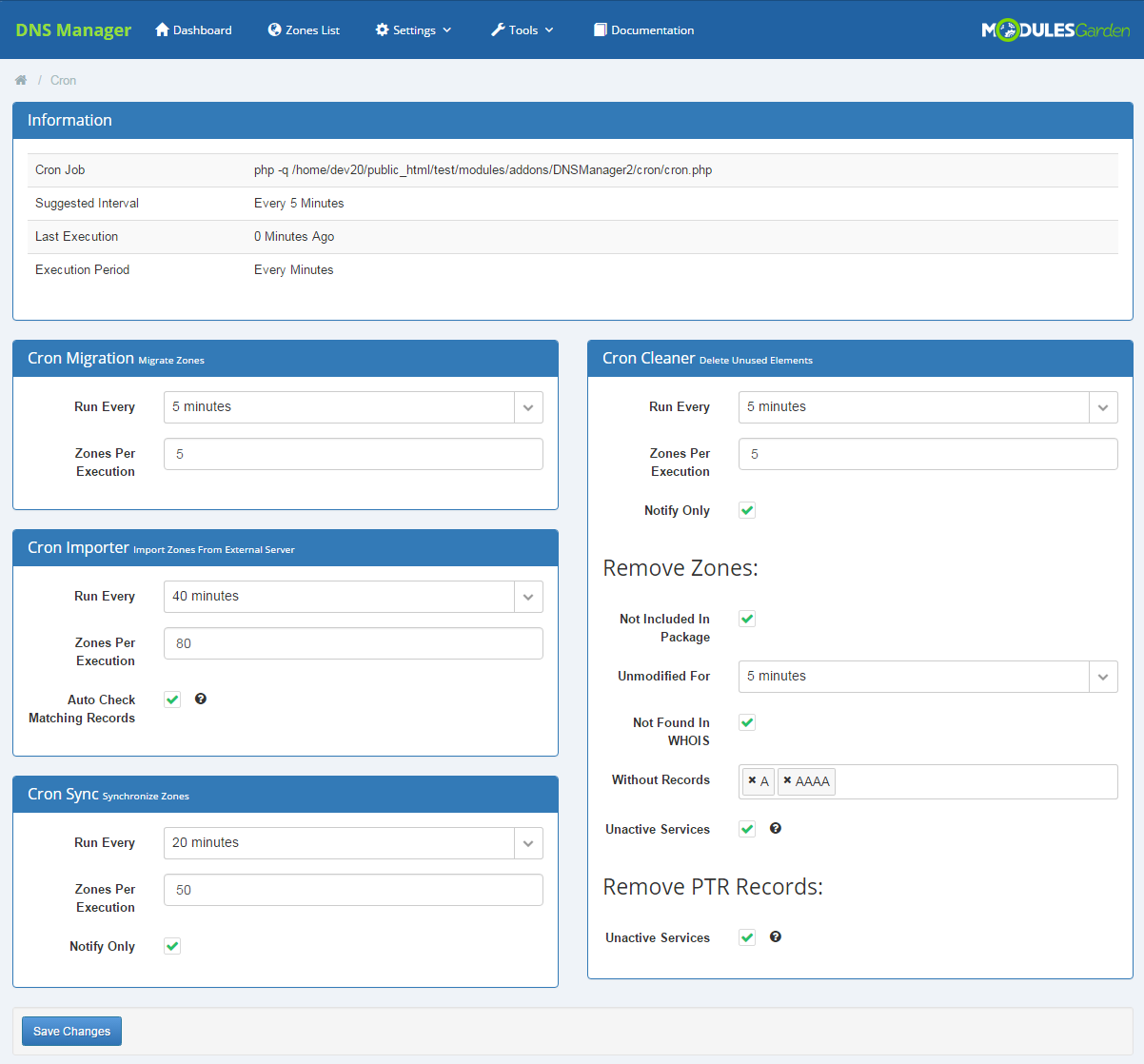 DNS Manager For WHMCS: Screen 22