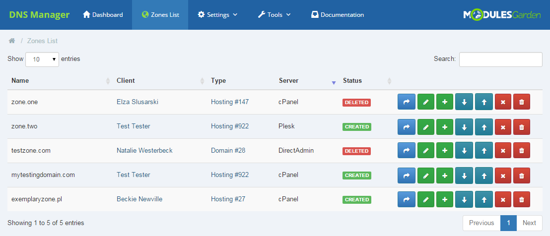 DNS Manager For WHMCS: Screen 10