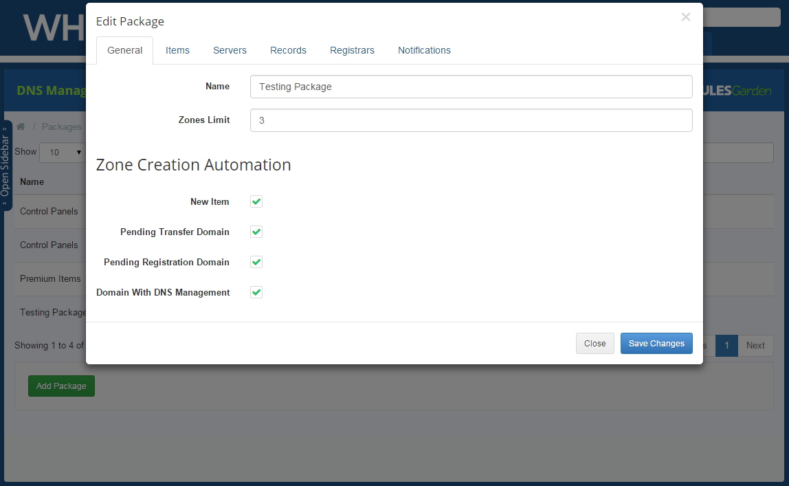 DNS Manager For WHMCS: Screen 16