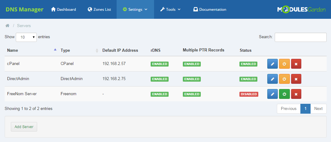 DNS Manager For WHMCS: Screen 15