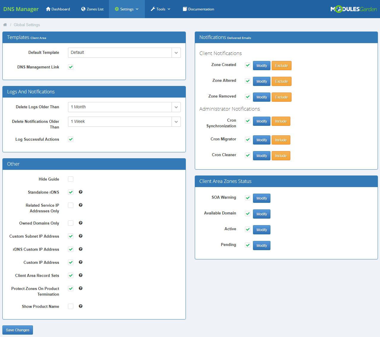 DNS Manager For WHMCS: Screen 13