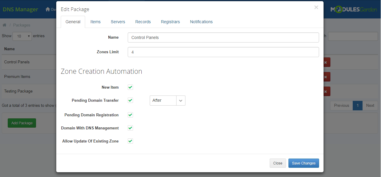 DNS Manager For WHMCS: Screen 17
