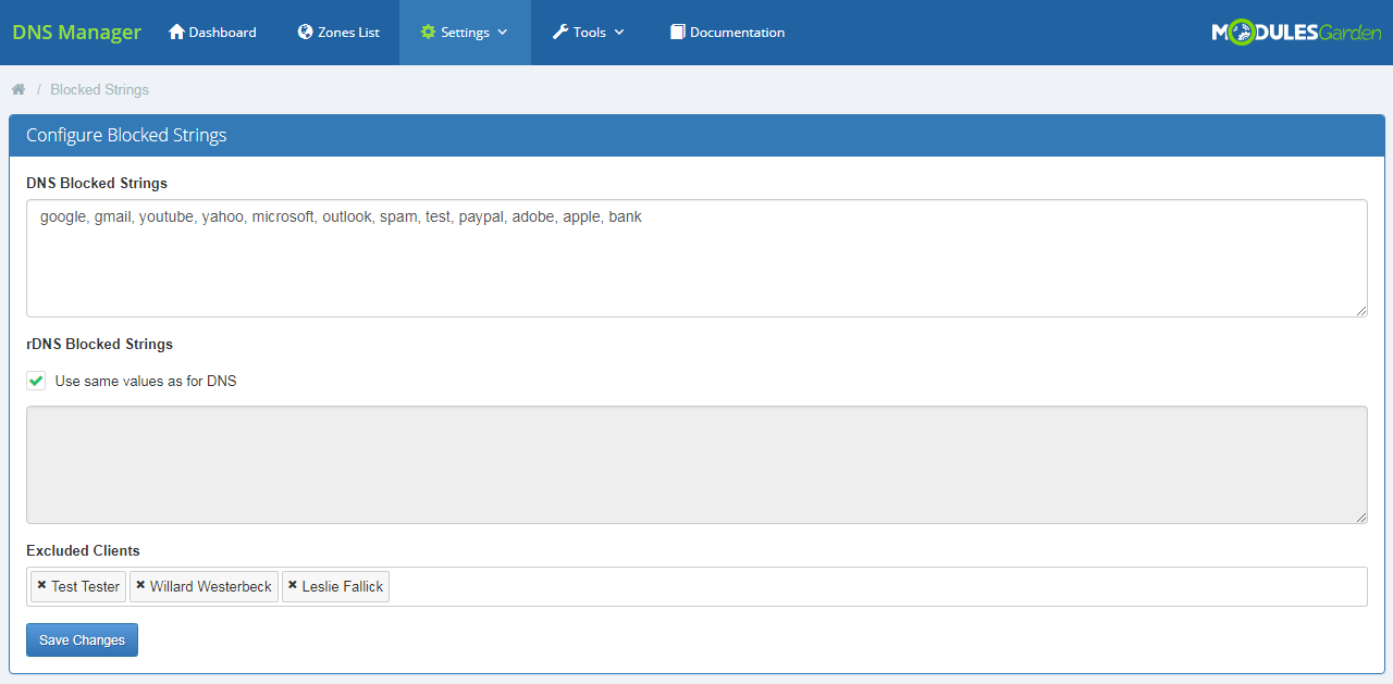 DNS Manager For WHMCS: Screen 25