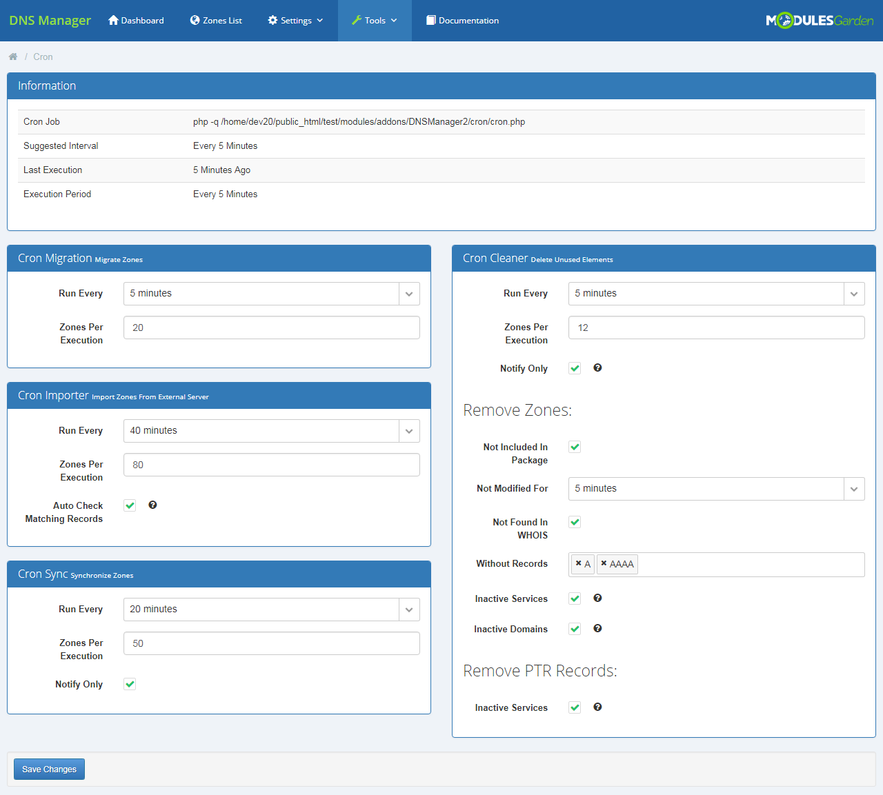 DNS Manager For WHMCS: Screen 26