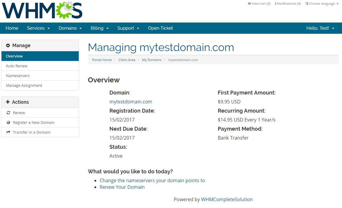 Domain Allocator For WHMCS: Screen 3