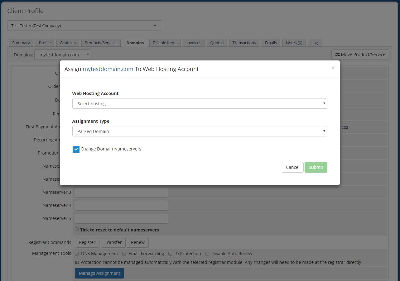 Domain Allocator For WHMCS: Screen 6