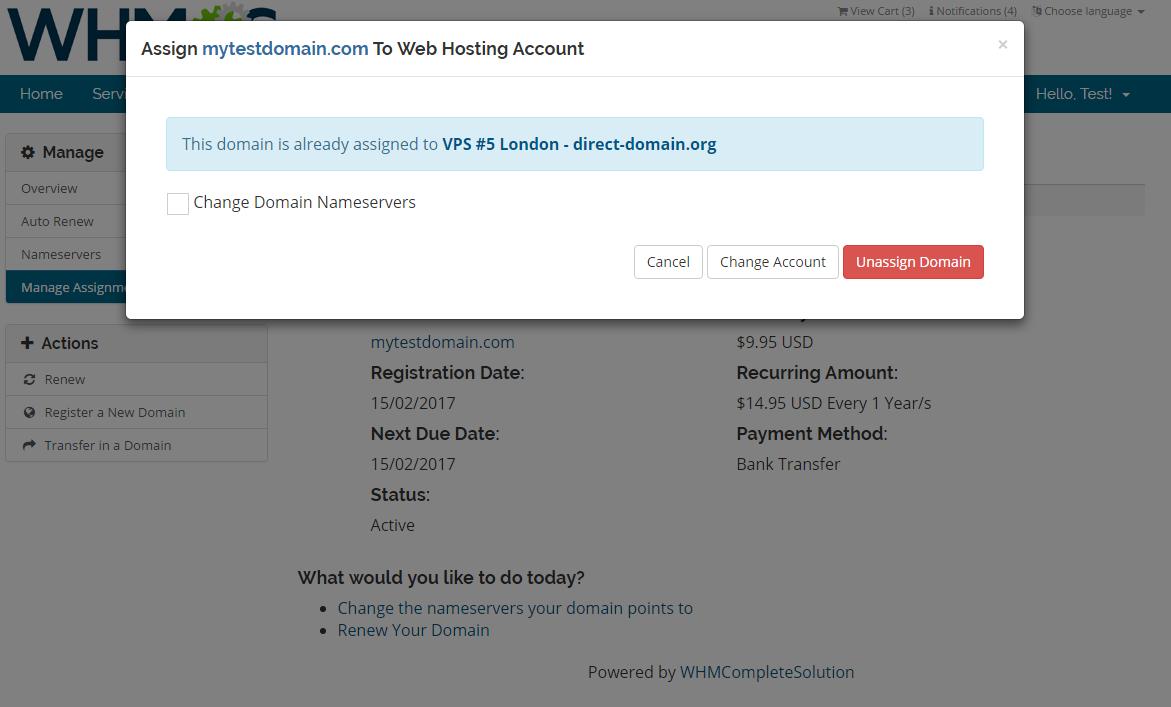 Domain Allocator For WHMCS: Screen 5