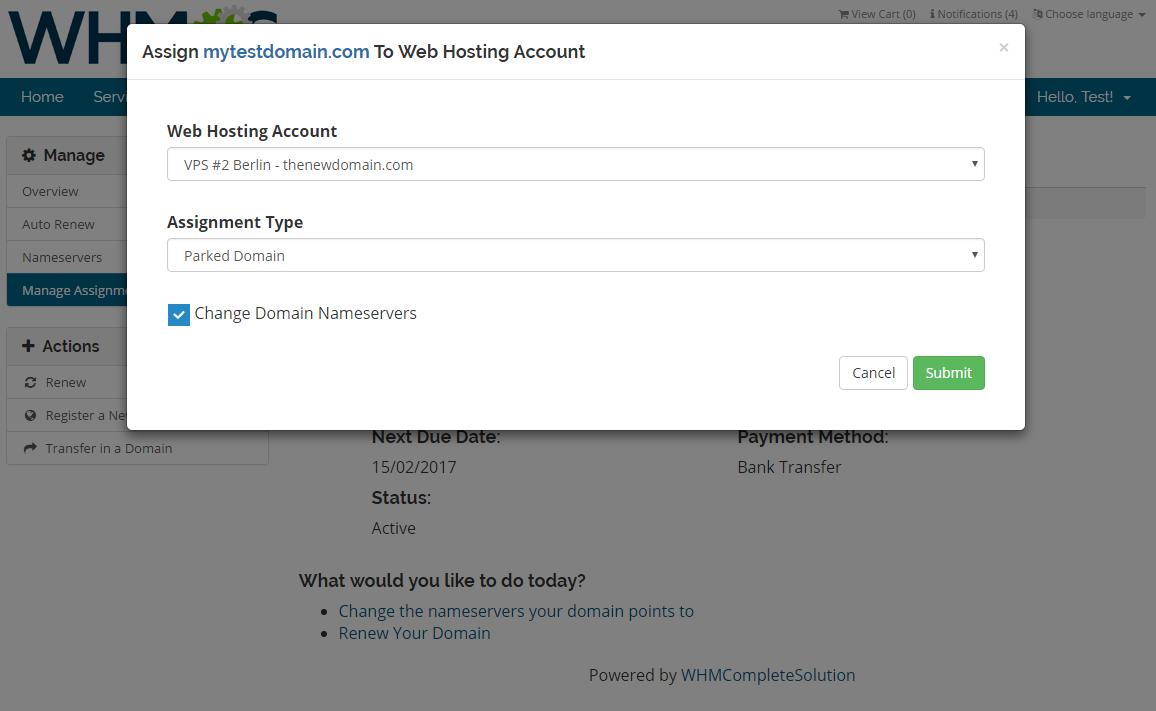 Domain Allocator For WHMCS: Screen 4