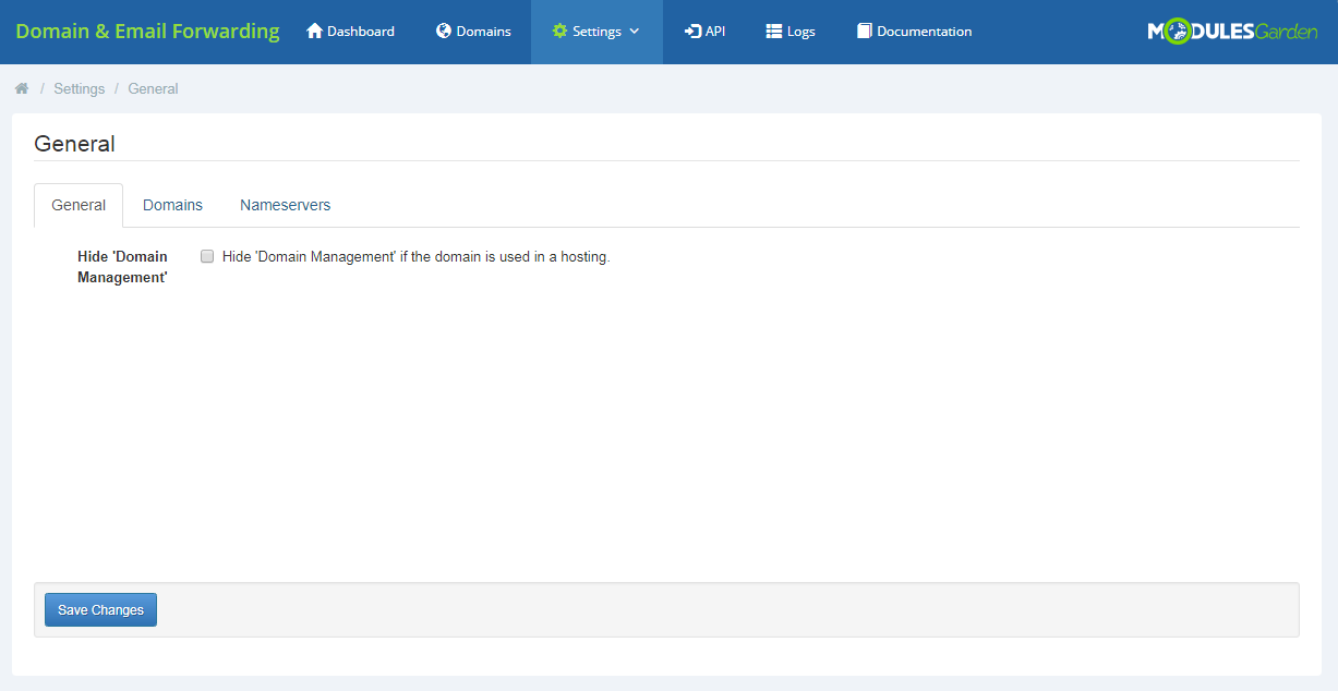 Domain & Email Forwarding For WHMCS: Screen 4