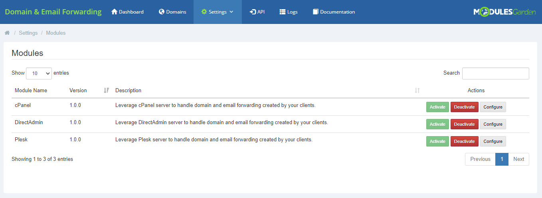 Domain & Email Forwarding For WHMCS: Module Screenshot 10