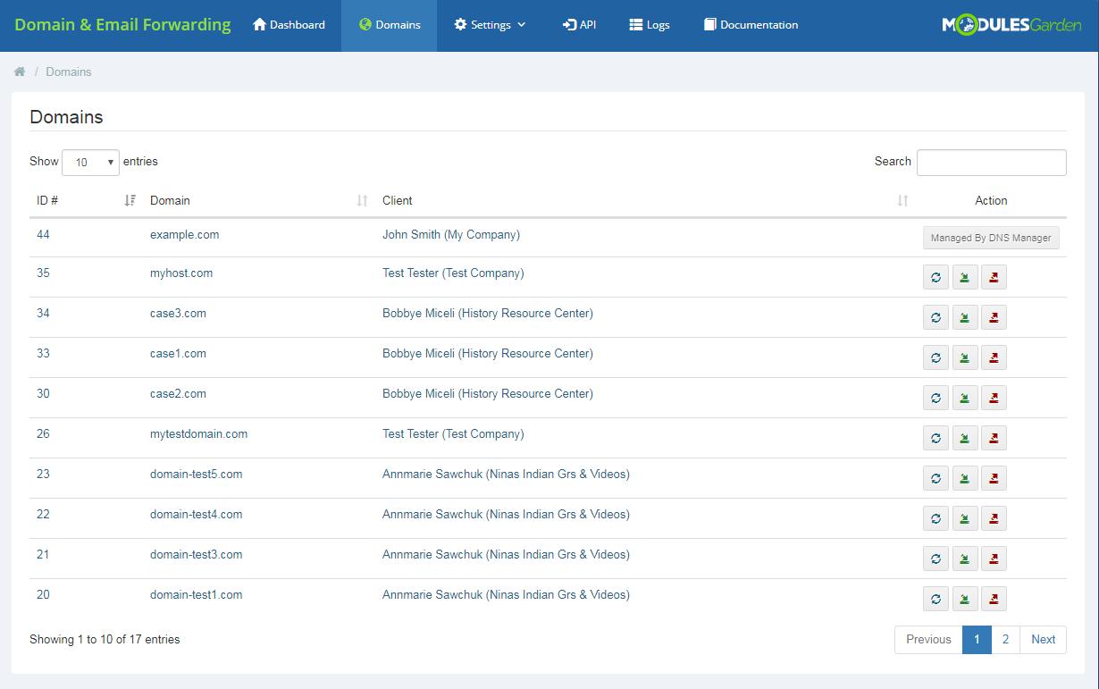 Domain & Email Forwarding For WHMCS: Module Screenshot 3