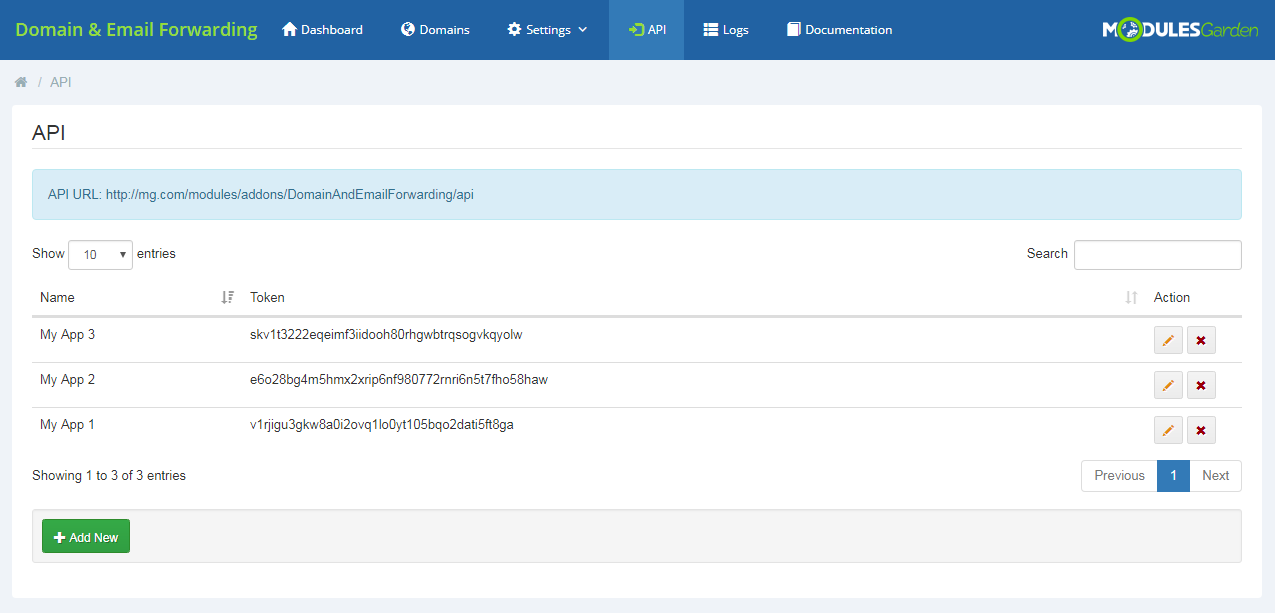 Domain & Email Forwarding For WHMCS: Module Screenshot 14