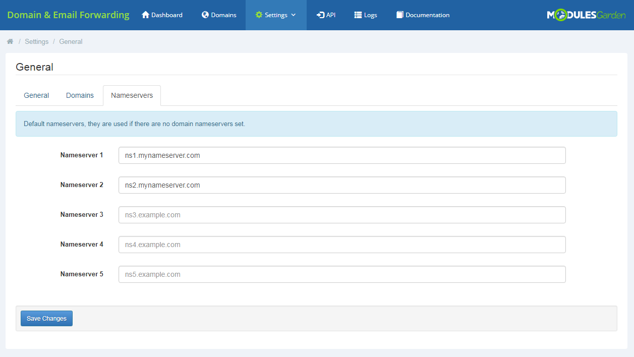 Domain & Email Forwarding For WHMCS: Module Screenshot 9