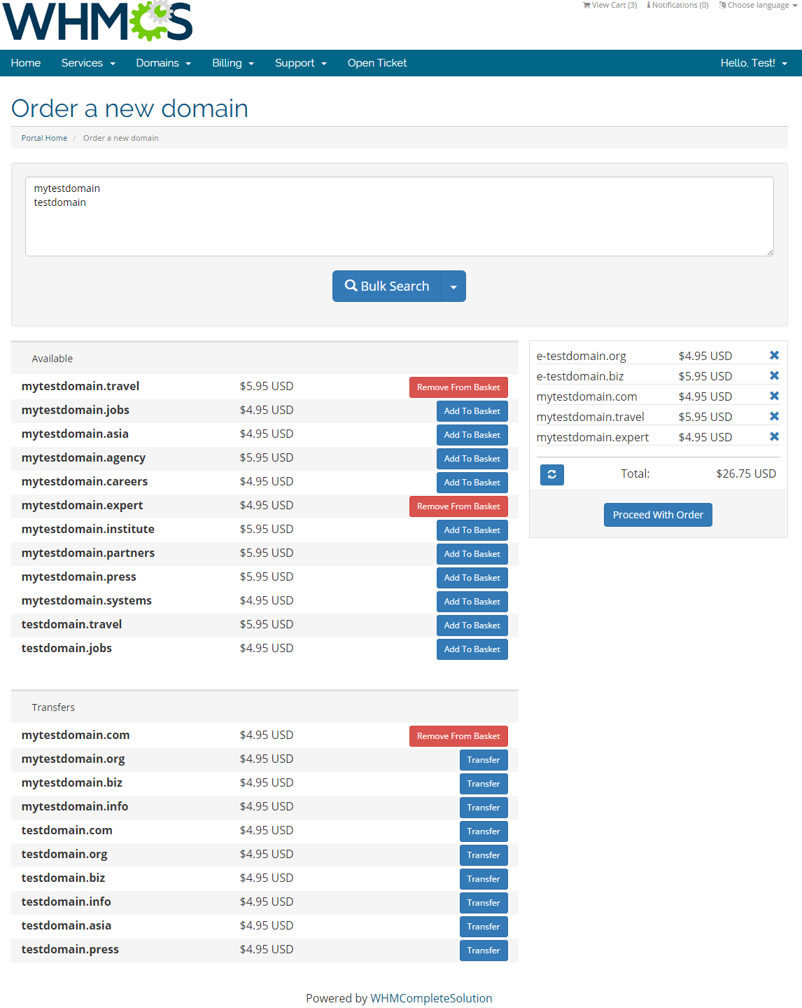 Domain Orders Extended For WHMCS: Screen 6