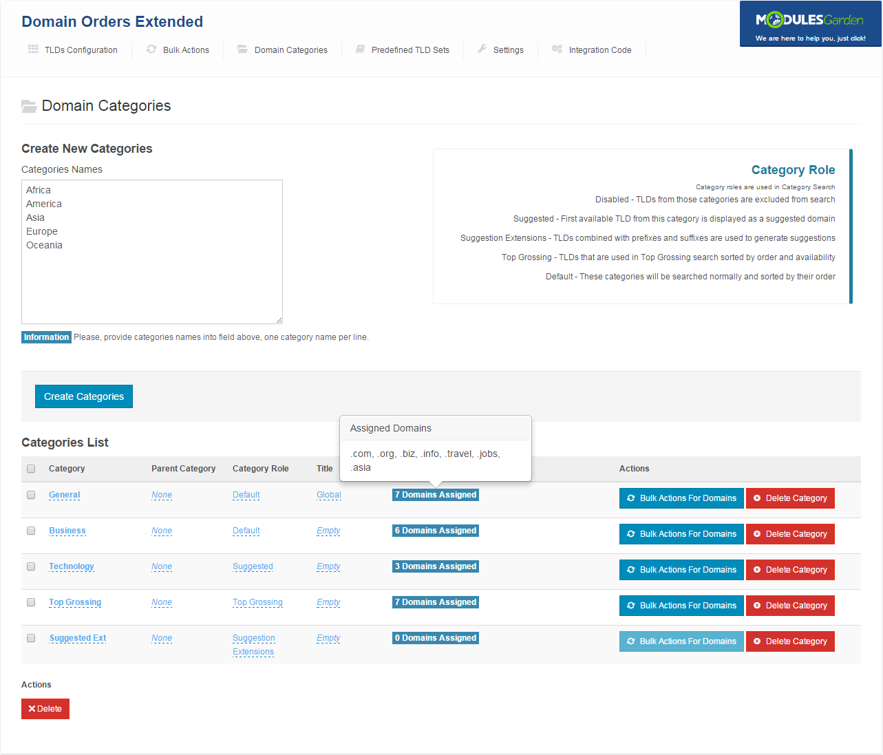 Domain Orders Extended For WHMCS: Screen 8