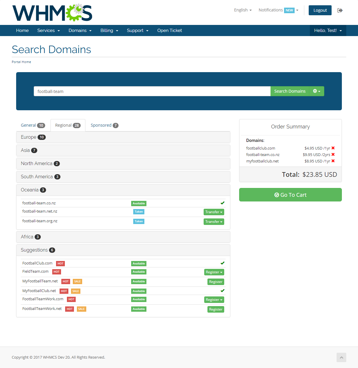 Domain Orders Extended For WHMCS: Screen 3